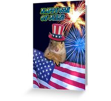 Forth Of July Squirrel Greeting Card