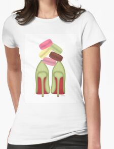LOUBOUTIN & STACKED MACARONS Womens Fitted T-Shirt