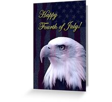 Fourth Of July Eagle Greeting Card