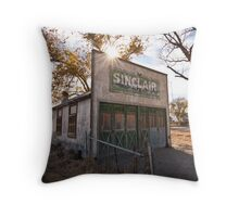 Old Sinclair Station Throw Pillow