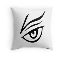 the world really is quiet here w/ text Throw Pillow