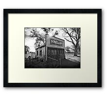 Old Sinclair Station (Black & White) Framed Print
