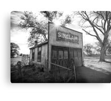 Old Sinclair Station (Black & White) Metal Print