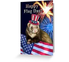 Flag Day Ferret Greeting Card