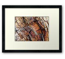 Wood Mosaic Framed Print