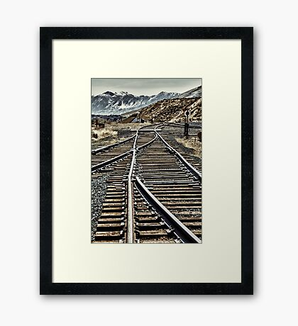 The Work of A Steel Drivin' Man Framed Print