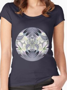 Purple Leaves Women's Fitted Scoop T-Shirt