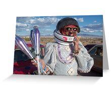 Astronaut Juggler Greeting Card