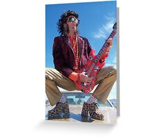 Rock Star King Greeting Card