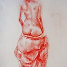 Nude from the back by Julia Lesnichy