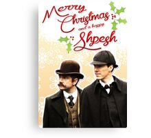 Sherlock Special Christmas Card Canvas Print