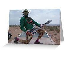 Yoda Air Guitar Hero Greeting Card