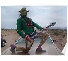 Yoda Air Guitar Hero Poster