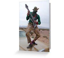 Guitar Hero Yoda Greeting Card