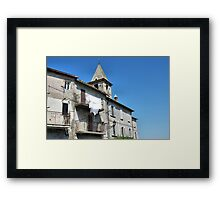 Pure White-Magliano, Italy Framed Print