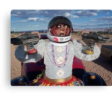 Astronaut Spring Shoes Canvas Print