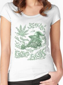 Wise Weed Wizard Women's Fitted Scoop T-Shirt