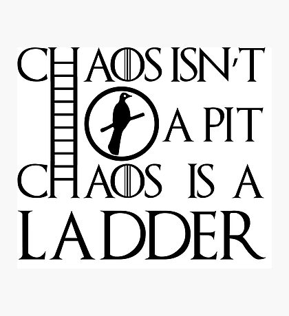 Chaos Ladder Photographic Print