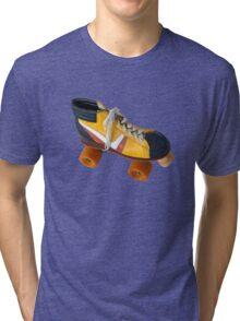 Retro Roller Skate Tri-blend T-Shirt