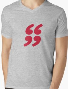 QUOTATION MARK Mens V-Neck T-Shirt