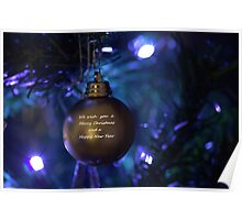 Golden Bauble for Christmas Poster