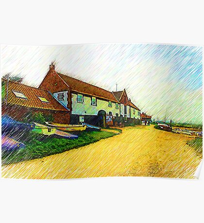 The Boathouse Burnham Overy Staithe Poster