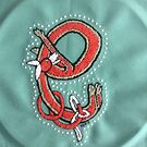 Celtic Fox Letter E Embroidery by Donna Huntriss