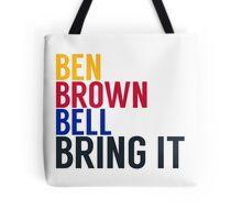 Pittsburgh Steelers - Big Ben Roethlisberger, Antonio Brown, and Le'veon Bell Tote Bag