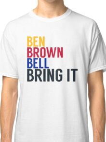 Pittsburgh Steelers - Big Ben Roethlisberger, Antonio Brown, and Le'veon Bell Classic T-Shirt
