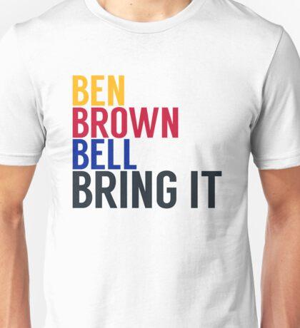 Pittsburgh Steelers - Big Ben Roethlisberger, Antonio Brown, and Le'veon Bell Unisex T-Shirt