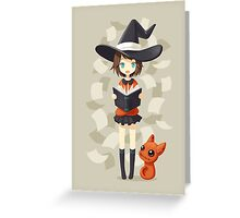 Little Witch 2 Greeting Card