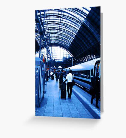 Train Station VRS2 Greeting Card