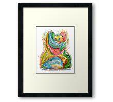 """The embrace"" Framed Print"