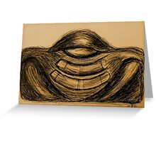 """Meditator gold"" Greeting Card"