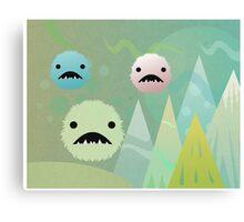 Bad Snowflakes by Aglaia Mortcheva Canvas Print