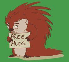 Porcupines just wanna hug Kids Tee
