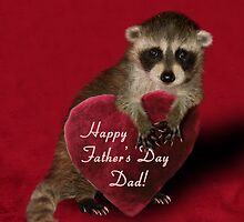 Father's Day Raccoon by jkartlife