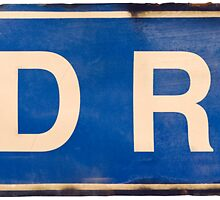 Isolated Skid Row Street Sign by mrdoomits
