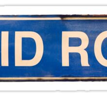 Isolated Skid Row Street Sign Sticker