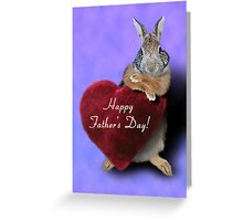 Father's Day Bunny Rabbit Greeting Card