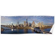 Austin Skyline and Ladybird Lake from the Hyatt Panorama Poster