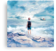 Waiting at the water's edge Canvas Print