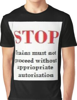 Railway Sign      Simile ? Graphic T-Shirt