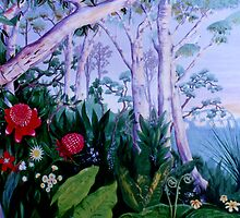 Blue Mountains Mural by Tania Williams