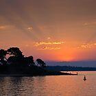 Sunset over Cowes Phillip Island Australia by PhotoJoJo