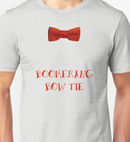 Boomerang Bow Tie Unisex T-Shirt