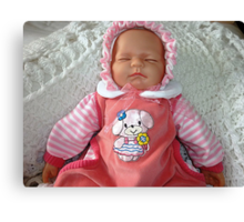 Baby Doll in PInk Canvas Print
