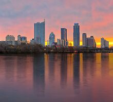 Austin Skyline Sunrise from Lou Neff Park 1 by RobGreebonPhoto