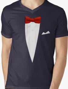 Red Bow Tie Mens V-Neck T-Shirt