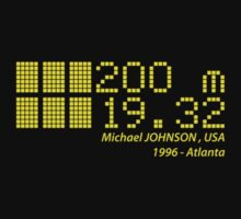 Michael JOHNSON - 200m - 1996 by NicoWriter
